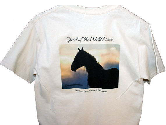Spirit of the Wild Horse T-Shirt Back View